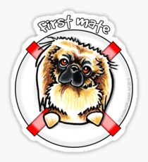Pekingese :: First Mate Sticker