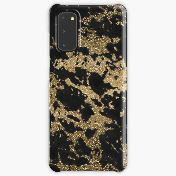 Modern faux gold glitter black marble Samsung Galaxy Snap Case