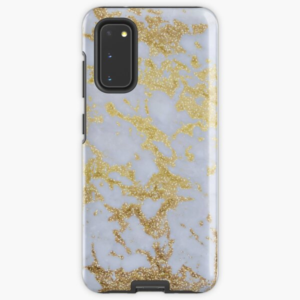 Awesome trendy modern faux gold glitter marble Samsung Galaxy Tough Case
