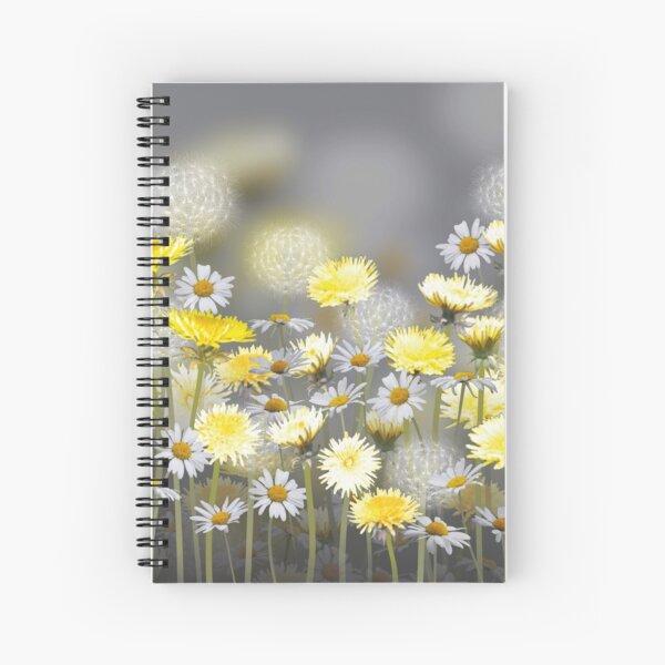 Dandelion & Daisy Meadow Spiral Notebook