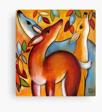 Three Deer Canvas Print