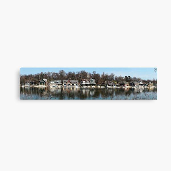 Boathouse Row, Schuylkill River, Philadelphia, PA, USA Canvas Print