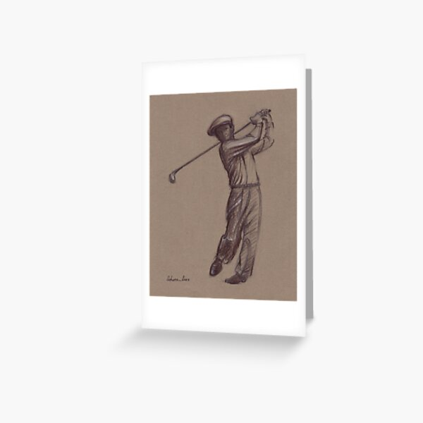 Ben Hogan - pencil drawing of the great golf master Greeting Card