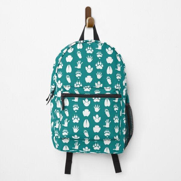Animal tracks - white Backpack