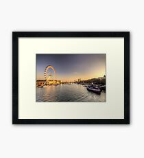 Millenium Wheel dusk  Framed Print