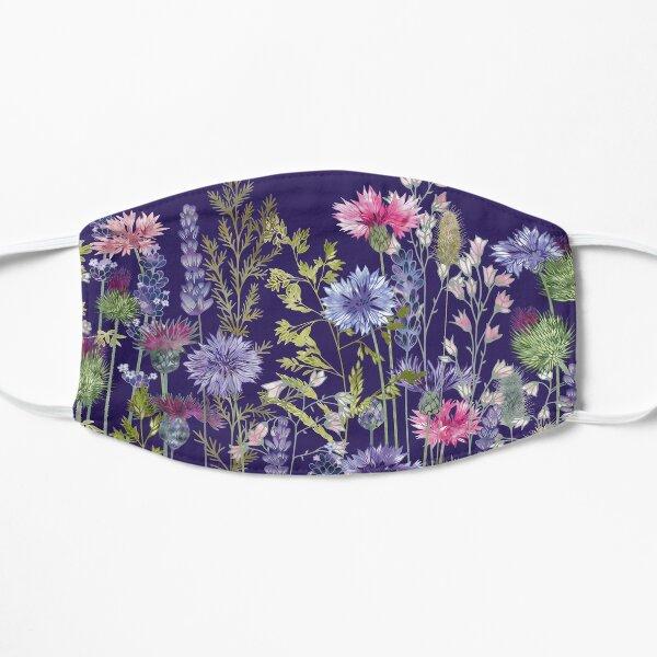 Flower Meadow - Cornflowers, Thistles & Lavender Flat Mask