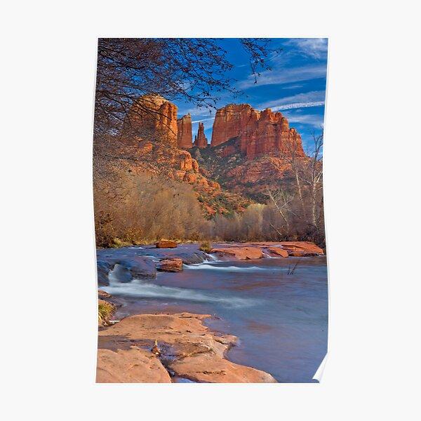 Sedona Oak Creek, Cathedral Rocks Poster