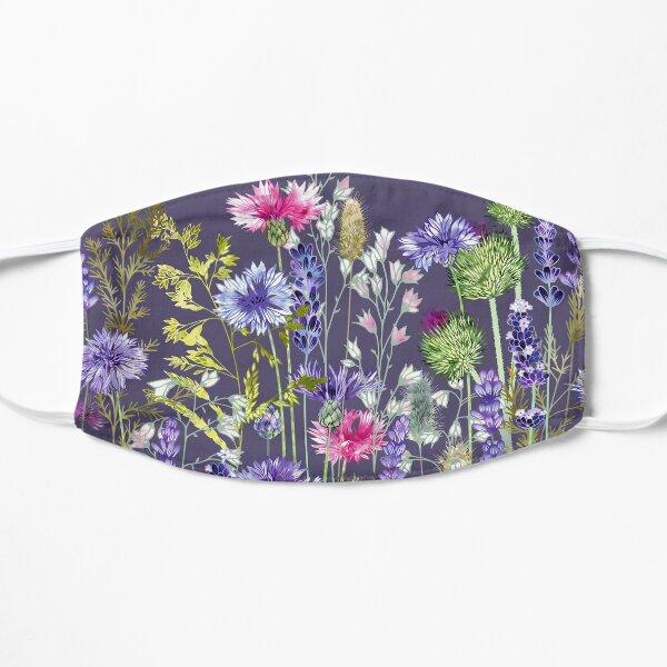 Flower Meadow - Cornflowers, Thistles, Lavender, Heucherella & Grasses Flat Mask