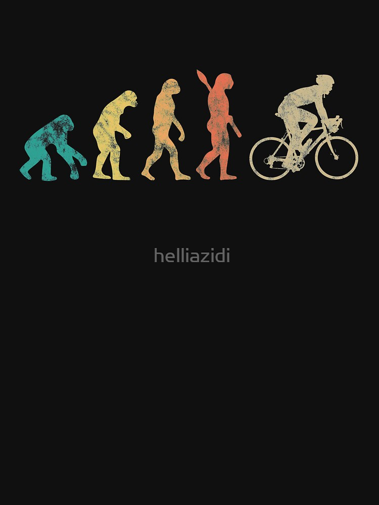 Retro Men Evolution Cycling Gift For cyclist by helliazidi