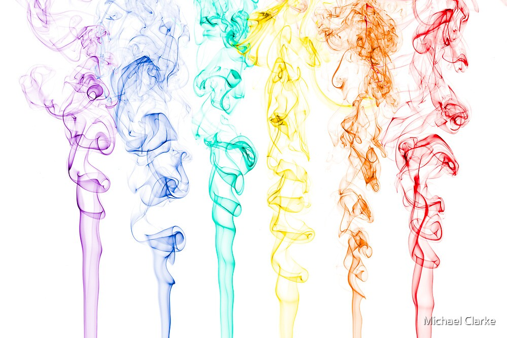 Rainbow Smoke 2 by Michael Clarke