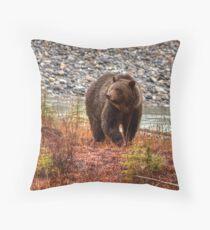 Kootenay Grizzly Throw Pillow