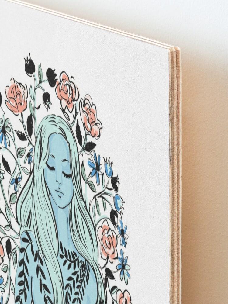 Alternate view of flowering mind Mounted Print