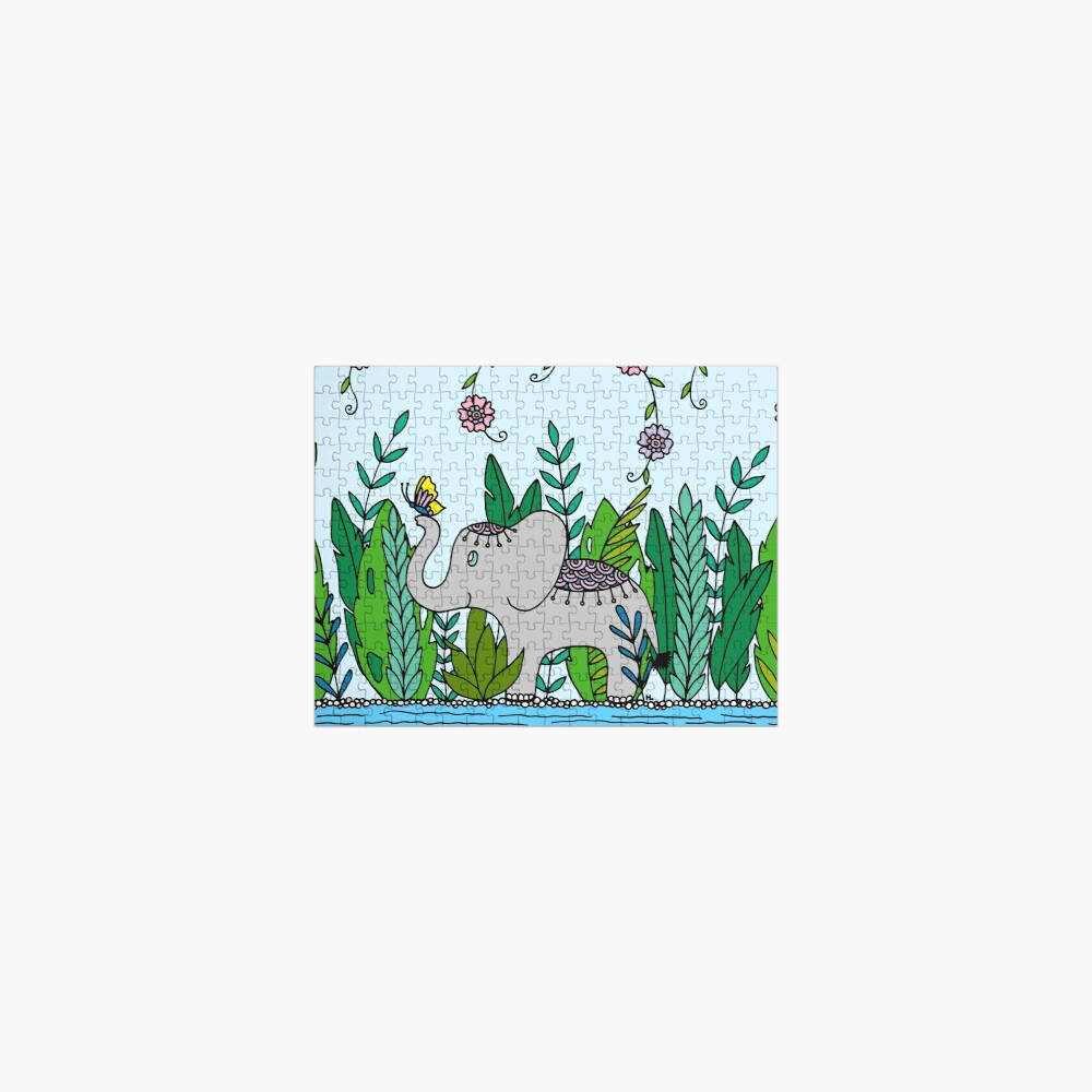 Baby Elephant with Butterfly || Jungle || Animals || Cute || Nursery  Jigsaw Puzzle
