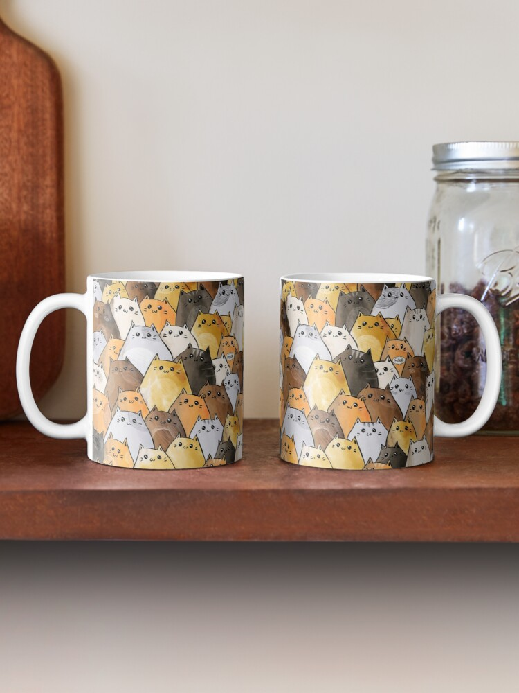 Alternate view of Cute Kitty Cat Pattern - I Want To Pet Every Cat In The World Mug