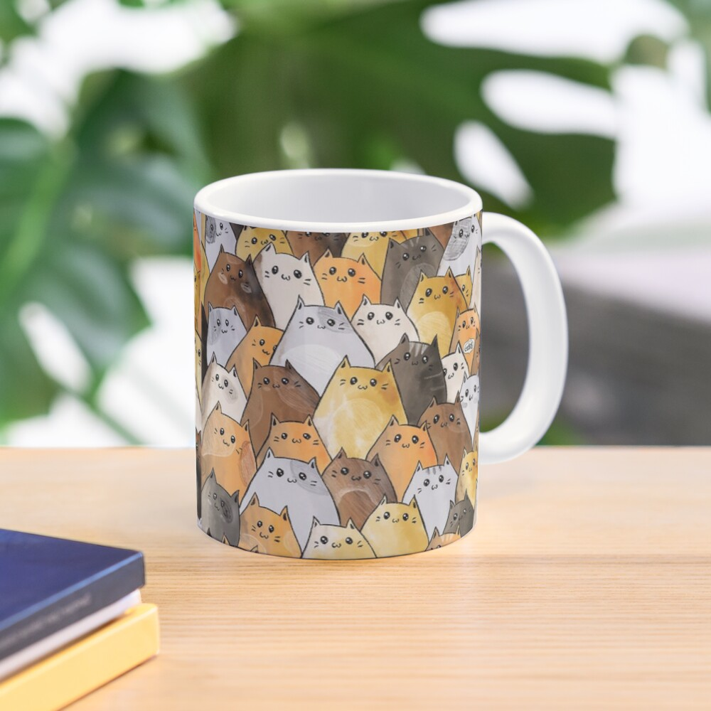 Cute Kitty Cat Pattern - I Want To Pet Every Cat In The World Mug