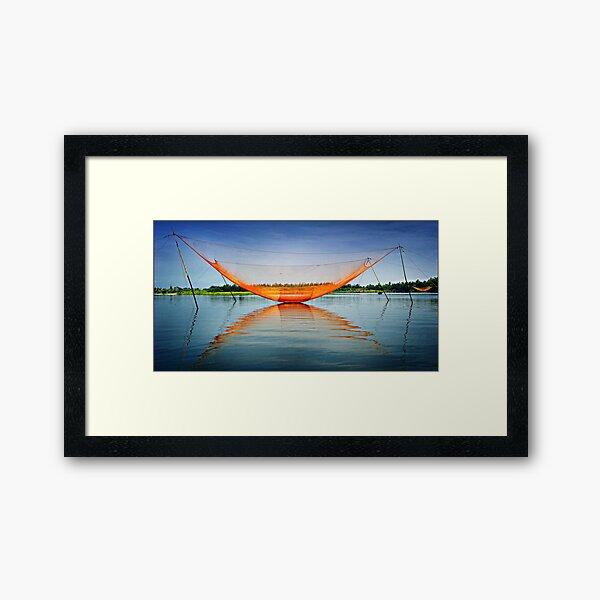 """"""" Shrimp Nets """" - Hoi An - Vietnam Framed Art Print"""