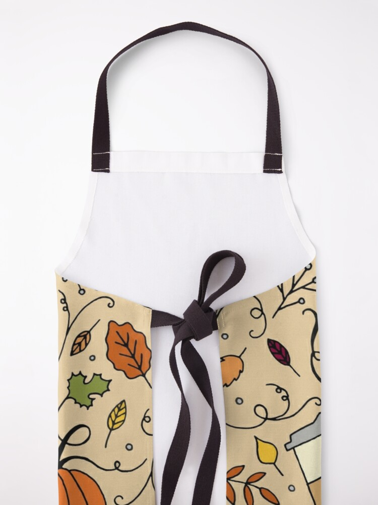 Alternate view of But First, Pumpkin Spice Latte || Fall || Autumn || Lettering Apron