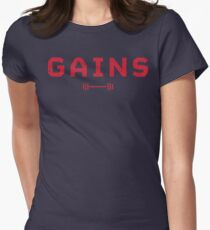 Gains. Womens Fitted T-Shirt