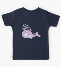 Whimsical Cute Magenta Purple Pregnant Mommy Whale Kids Clothes