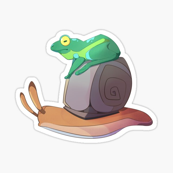 Frog and Snail Sticker