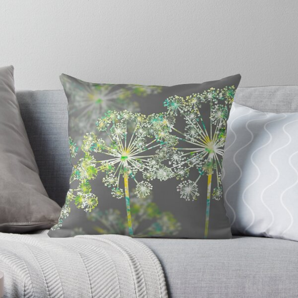 Apiaceae Flowers (Umbellifers) Throw Pillow