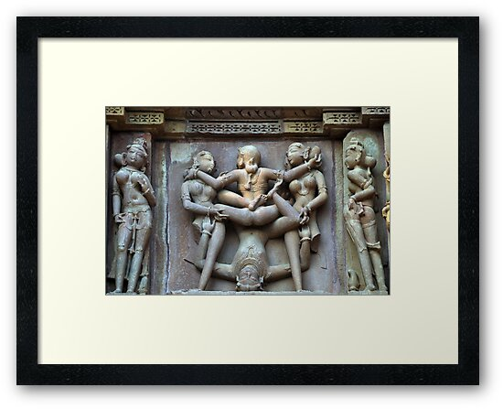 Kamasutra carvings on Khajuraho temple walls by AravindTeki