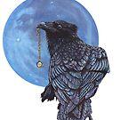 Treasure Seeker with Blue Moon by artbyakiko
