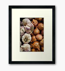 Garlic & Onions Framed Print