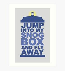Snog Box (Tardis) Art Print