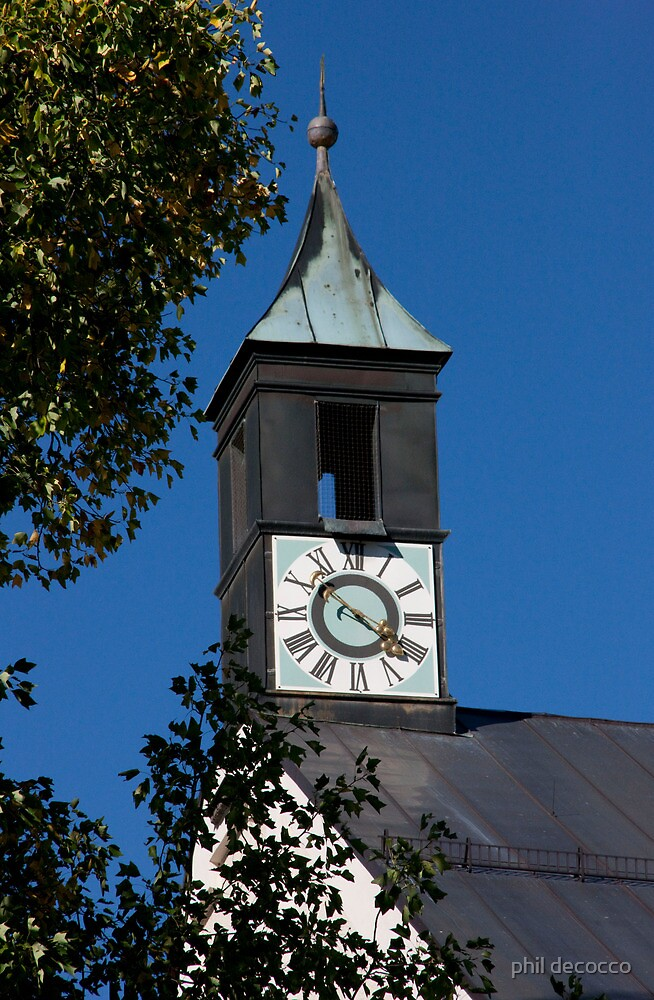 Copper Clock Tower by phil decocco