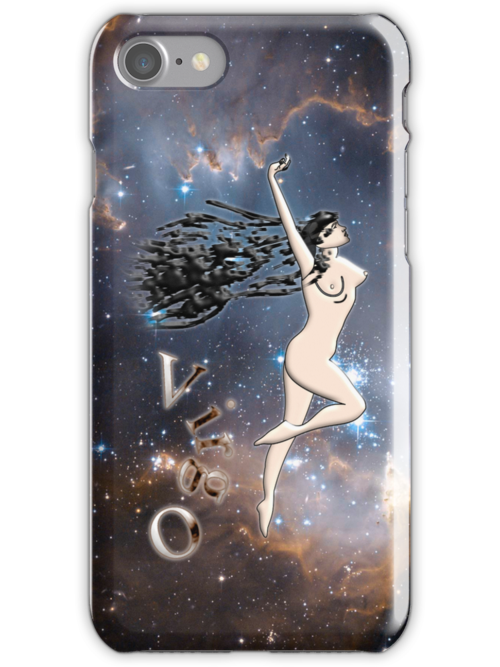 Zodiac sign Virgo iPhone case by Dennis Melling
