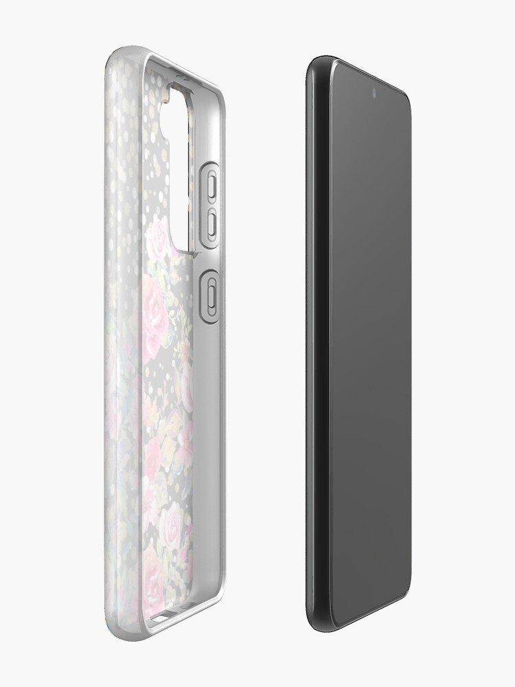 Alternate view of Modern watercolor spring floral and gold dots pattern Case & Skin for Samsung Galaxy