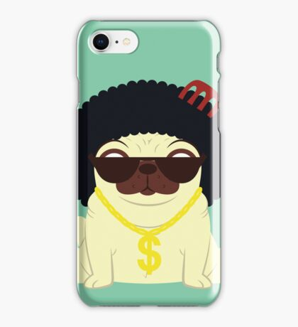 Pug in bling iPhone Case/Skin