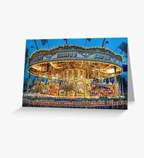 Carousel in Bournemouth Greeting Card