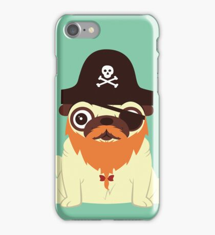 Pug in a crew iPhone Case/Skin