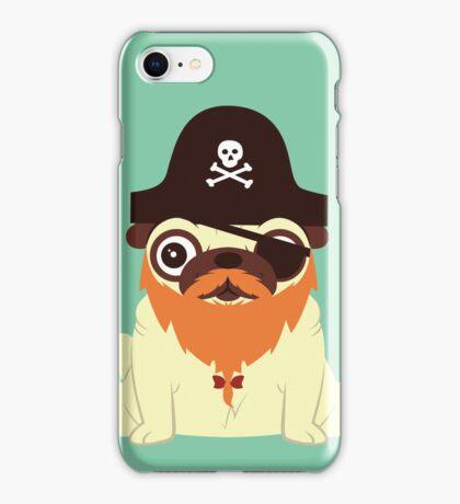 Pug in a crew iPhone Case/Skin