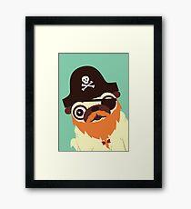 Pug in a crew Framed Print