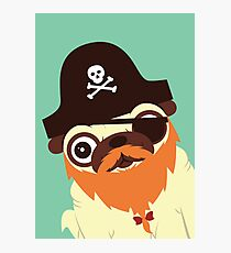Pug in a crew Photographic Print