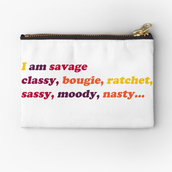 I am savage  Zipper Pouch