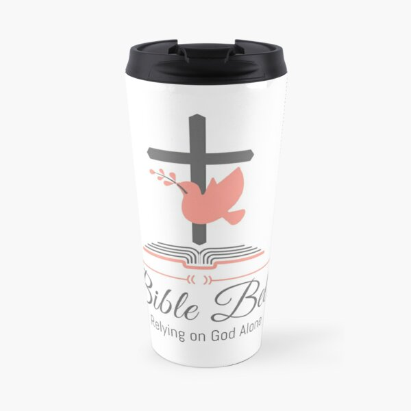 Bible Belles | Ladies' and Women's Bible Study Journal | Christian Women Relying on God Alone Travel Mug