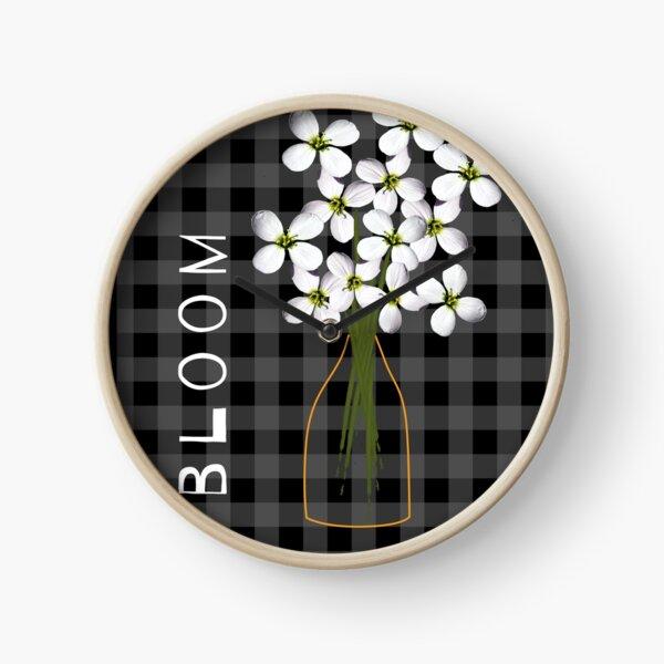 Flowers in a vase Clock