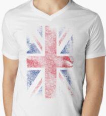 Union Jack - Flag Great Britain - Vintage Look Men's V-Neck T-Shirt