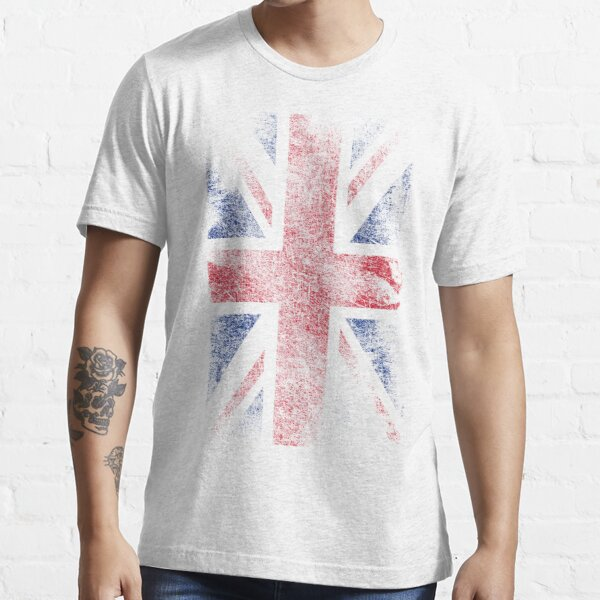 Union Jack - Flag Great Britain - Vintage Look Essential T-Shirt