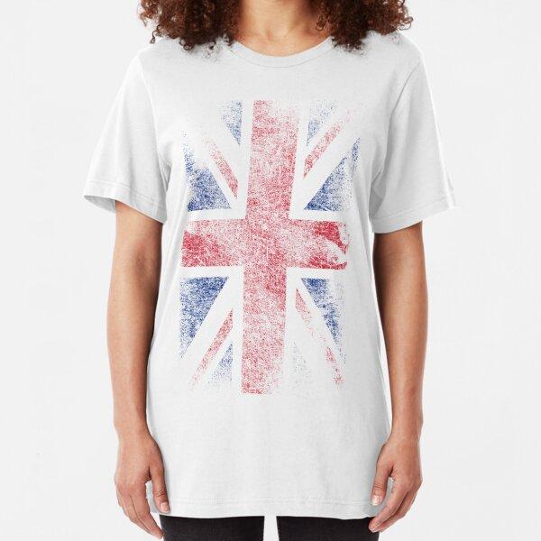 Union Jack - Flag Great Britain - Vintage Look Slim Fit T-Shirt