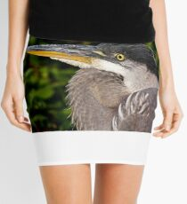 Great Blue Heron up close and personal Mini Skirt