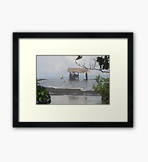 Unique Black Beach Perspective Framed Print