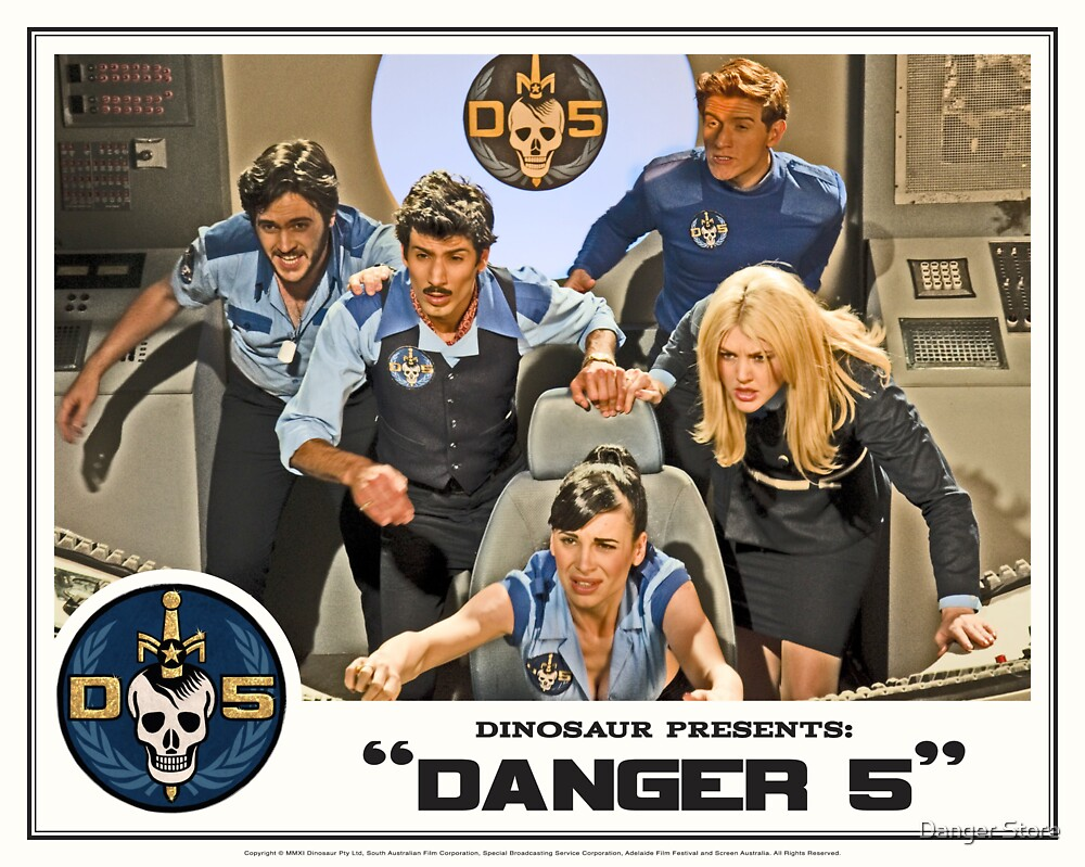 "Danger 5 Lobby Card #3 - ""In the balance"" by Danger Store"