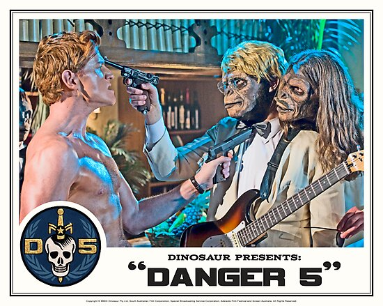 "Danger 5 Lobby Card #7 - ""Yeah, let's pop him"" by Danger Store"