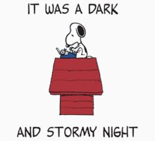 Snoopy - It was a dark and stormy night | Unisex T-Shirt