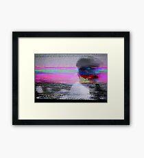Glitch art - analogue video degeneration Framed Print